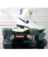 NIKE VINTAGE 70s 80s ROLLER SKATES White Leather Retro BLUE SWOOSH Rink ... - $449.99
