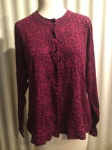 Charter Club Women's Acai Berry Button Down Sweater Plus Size 0X Rayon, Nylon - $26.00