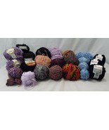 Lot of 26 Vintage + New Yarn Skeins Knitting Variety of Colors + Brands - $44.59
