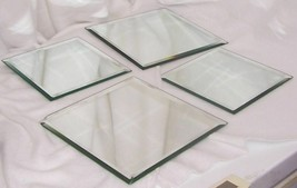 PartyLite Mirrored Coaster Set Beveled Mirrored Glass 2 Sets P7085 - $19.95