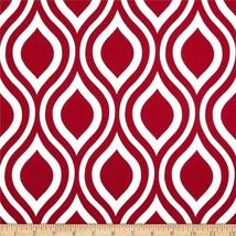 SAMPLE SALE RUNNER--Christmas Red and White Geometric ovals,Table Runner... - $6.90