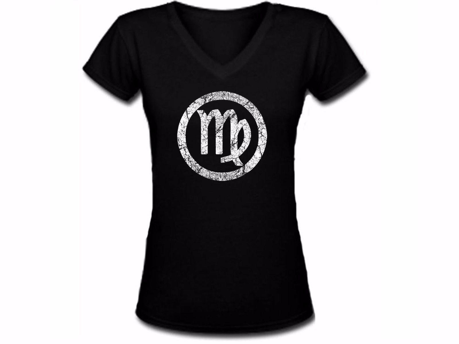 Constellations zodiac stars astrology horoscope Virgo women/junior black t-shirt