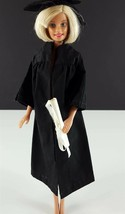 Barbie 945 Graduation Gown Black Gown w/Cap & Diploma Original 1963 Clot... - $19.79