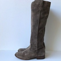 Womens Frye 'Cara' Tall Suede Leather Boots 6.5B Taupe - $60.43