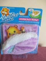 Zhu Zhu Pets Hamster Bed & Cozy Blanket, Purple, New In Pack Cepia 2008 - $9.89