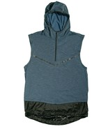 Nike Tech Pack Sphere Sleeveless Running Hoodie Blue AR9819 Large - $47.49