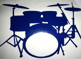 8 piece drumkit in blue decal ideal cars, trucks, home etc easy to apply