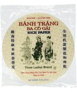 Three Ladies Brand Spring Roll Rice Paper Wrapper (2 Packs) Round, 22cm - $24.74