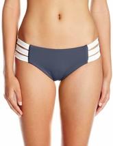 Seafolly INDIGO Block Party Multi Strap Bikini Bottom Swimsuit, US 12, U... - $33.17