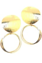 WOMEN'S FASHION JEWELRY METAL POST EARRINGS GOLD NEW NEVER WORN - $1.90