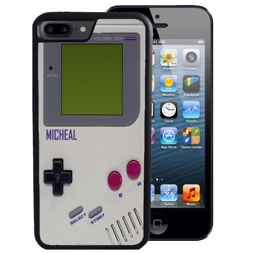 PERSONALIZED CASE FOR iPHONE X 8 7 6 5 SE 5C PLUS RUBBER GAME BOY RETRO VIDEO