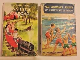 Bobbsey Twins Railroad Whitesail Harbor Laura Lee Hope HC #44 45 Lot 2 V... - $13.95