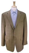 * ERMENEGILDO ZEGNA * Gold Plaid Wool 3-Btn Sportcoat Blazer 44L - $84.00