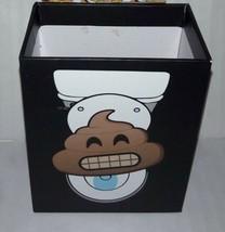 """Locker Magnetic Storage Cups Poo Emoji 4""""x3""""x2"""" Poop Toilet Fun Faces NEW - $2.91"""