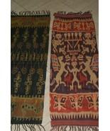 Handspun Hand woven Intricate Sumba Hinggi Warp Ikat Tapestry Dye Resist... - $132.99