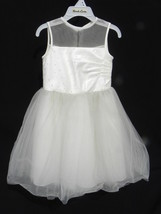 NWT Sarah Louise Girl's Elegant Champagne or Ivory Tulle & Lace Dress Sz... - $19.99