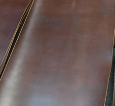 Authentic Horween Chromexcel Brown Leather Piece, 5.5 ounces thick. Sele... - $3.85+
