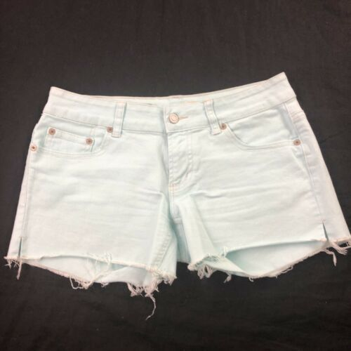 American Eagle Women's Green Cut Off Shorts 6