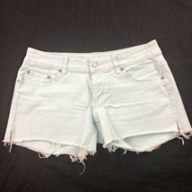 American Eagle Women's Green Cut Off Shorts 6 image 1