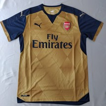 Arsenal Away Jersey 2015/15 Puma Fans Version Gold %100 Original Short S... - $39.00