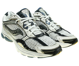 SAUCONY ProGrid Omni 7 Mens White Black Mesh Uppers Running Shoes Sneake... - $27.84