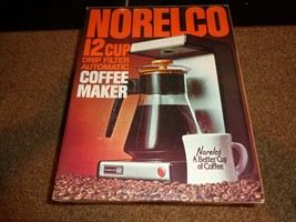 Vintage Norelco 12 Cup Drip Coffee Maker Model HD5135 Stainless USA New ... - $90.25