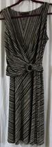 BCBG Maxazria M Dress Brown White Sleeveless V Neck - $13.35