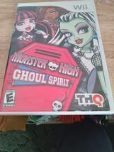 Nintendo Wii Monster High: Ghoul Spirit ~ COMPLETE image 1