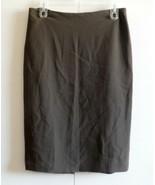 "Woman Ladies Skirt Brown with lining Ellen Tracy Brown 30.5"" waist  - $2.48"