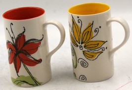 Starbucks 2006 Spring Ceramic 12 oz Tall Coffee Mug Set Of 2 - $20.89