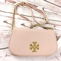 NWT 100% Authentic Tory Burch Britten Crossbody/Clutch Bag in Light Oak;... - $213.84
