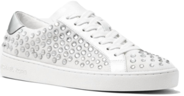 MICHAEL Michael Kors Irving Embellished Mesh Sneakers Optic White Size S... - $76.49