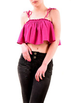Free People Womens NBW Authentic Tropic Babe Crop Top Fuschia Size XS - $46.19