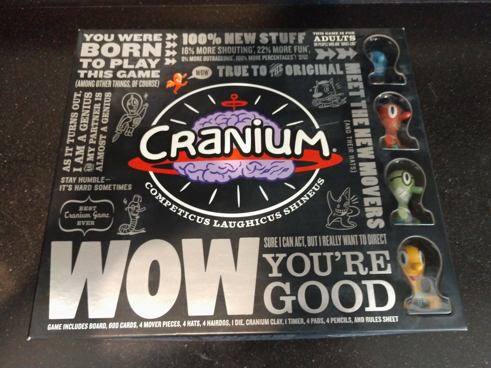 Cranium Competicus Laughicus Shineus Board Game - ALL PIECES