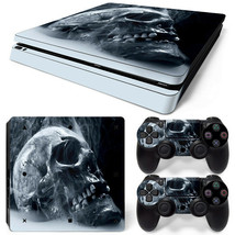 PS4 Slim Skin Console & 2 Controllers Skulls Vinyl Decal Wrap - $14.82