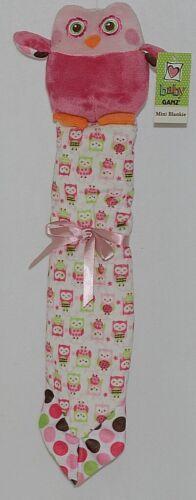 GANZ Brand Baby GANZ Collection BG2889 Pink Plush Owl Pink Green Blanket