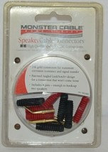 Monster Cable Home Series Speaker Cable Connectors 24K Gold Connectors image 1