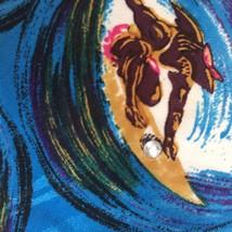 Surfer In A Curl Men's Necktie Tie Clear Rhinestone on Surfboard Waves P... - $21.51
