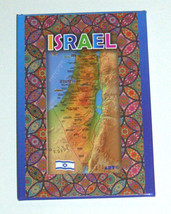 Judaica Fridge Door Magnet Metal Epoxy Decorated Israel Map Multicolor image 3