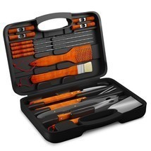 BBQ Grill Tools Set with 18 Barbecue Accessories - Stainless Steel Utens... - £49.36 GBP