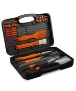 BBQ Grill Tools Set with 18 Barbecue Accessories - Stainless Steel Utens... - $68.76