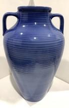 """A Santos Portugal Jay Willfred Andre by Sadek Large Blue Urn / Vase 16"""" - $90.25"""
