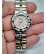 LUCIEN PICCARD DUFONTE MINERAL CRYSTAL WATCH TWO TONE 70359 - $24.70