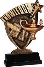 Lamp of Knowledge Academic Trophy with Personal... - $9.46