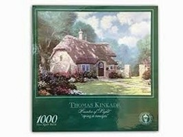 "Thomas Kinkade Painter of Light ""Spring at Stonegate"" 1000 Piece Puzzle - $14.85"