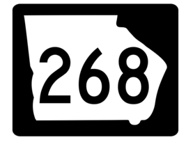 Georgia State Route 268 Sticker R3933 Highway Sign - $1.45+