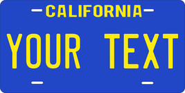 California 1980-89 License Plate Personalized Custom Auto Bike Motorcycl... - $10.99+