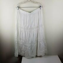 St. John's Bay New Boho Hippie Peasant Skirt White Lace Size Extra Large - $17.75