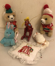 Vintage Christmas Tree Ornaments lot of 6 - $19.45