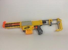 Recon Nerf Gun N-Strike CS-6 Stock Yellow Clip Extended Barrel Darts Lot - $40.05